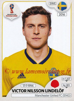 2018 - Panini FIFA World Cup Russia Stickers - N° 476 - Victor NILSSON LINDELOF (Suede)