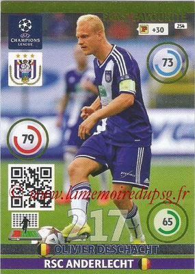2014-15 - Adrenalyn XL champions League N° 254 - Olivier DESCHACHT (RSC Anderlecht) ( Fans' Favourite)