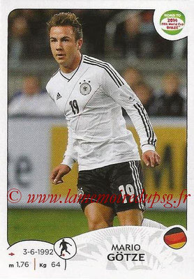 2014 - Panini Road to FIFA World Cup Brazil Stickers - N° 046 - Mario GOTZE (Allemagne)