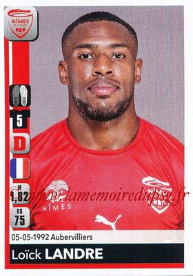 2018-19 - Panini Ligue 1 Stickers - N° 330 - Loïck LANDRE (Nîmes)