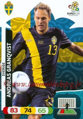 Panini Euro 2012 Cards Adrenalyn XL - N° 205 - Andreas GRANQVIST (Suède)