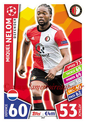 2017-18 - Topps UEFA Champions League Match Attax - N° 347 - Miguel NELOM (Feyenord)