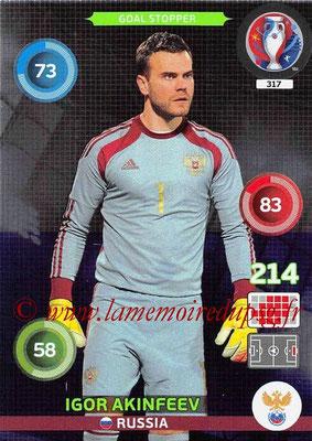 Panini Euro 2016 Cards - N° 317 - Igor AKINFEEV (Russie) (Goal Stopper)