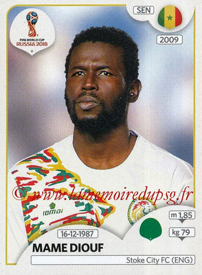 2018 - Panini FIFA World Cup Russia Stickers - N° 631 - Mame DIOUF (Senegal)