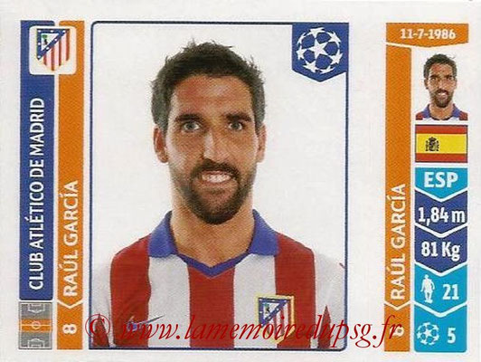 2014-15 - Panini Champions League N° 052 - Raul GARCIA (Atletico Madrid)