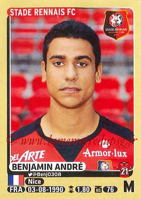 2015-16 - Panini Ligue 1 Stickers - N° 399 - Benjamin ANDRE (Stade Rennais FC)