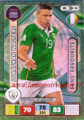 2018 - Panini Road to FIFA World Cup Russia Adrenalyn XL - N° IRL14 - Jonathan WALTERS (République d'Irlande) (Fans' Favourite) (UK Version)