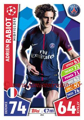 2017-18 - Topps UEFA Champions League Match Attax - N° 261 - Adrien RABIOT (Paris Saint-Germain)