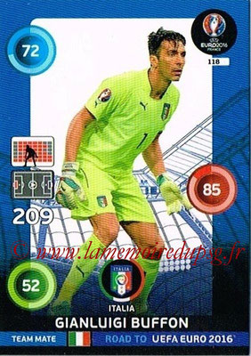 Panini Road to Euro 2016 Cards - N° 118 - Gianluigi BUFFON (Italie)