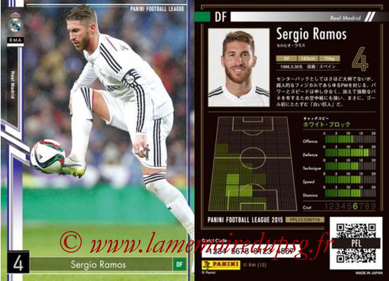 Panini Football League 2015 - PFL13 - N° 039 - Sergio RAMOS (Real Madrid)