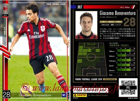 Panini Football League 2015 - PFL10 - N° 004 - Giacomo BONAVENTURA (Milan AC)