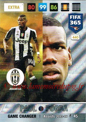 2016-17 - Panini Adrenalyn XL FIFA 365 - N° 440 - Paul POGBA (Juventus FC) (Game Changer) (Nordic Edition)
