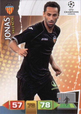 2011-12 - Panini Champions League Cards - N° 257 - JONAS (FC Valence)