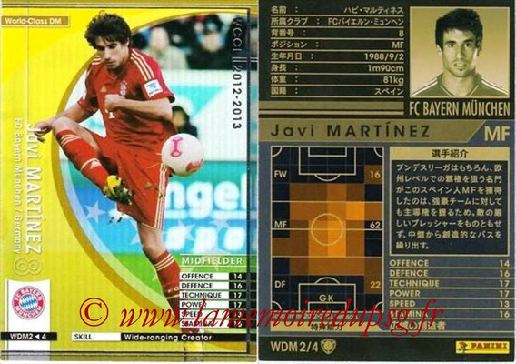 2012-13 - WCCF - N° WDM2 - Javi MARTINEZ (FC Bayern Munich) (World Class DM)