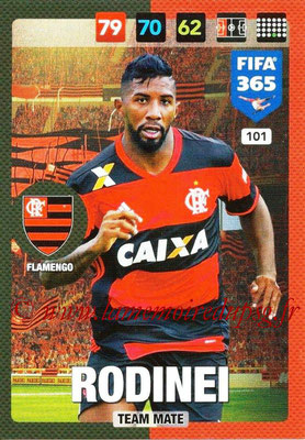 2016-17 - Panini Adrenalyn XL FIFA 365 - N° 101 - RODINEI (Flamengo)