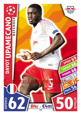 2017-18 - Topps UEFA Champions League Match Attax - N° 079 - Dayot UPAMECANO (RB Leipzig)