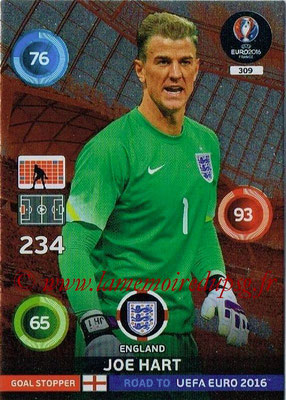 Panini Road to Euro 2016 Cards - N° 309 - Joe HART (Angleterre) (Goal Stopper)