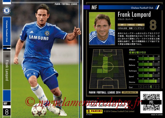 Panini Football League 2014 - PFL08 - N° 064- Frank LAMPARD (Chelsea FC)