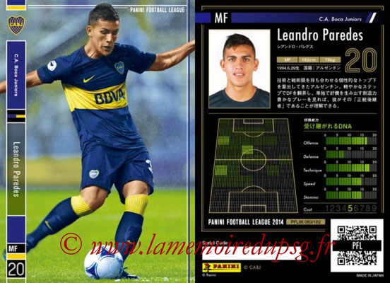 Panini Football League 2014 - PFL06 - N° 083 - Leandro PAREDES (CA Boca Juniors)