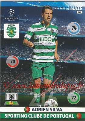 2014-15 - Adrenalyn XL champions League N° 247 - Adrien SILVA (Sporting Club de Portugal)
