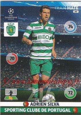2014-15 - Adrenalyn XL champions League N° 247 - Adrien SILVA (Sporting Club de Portugal)