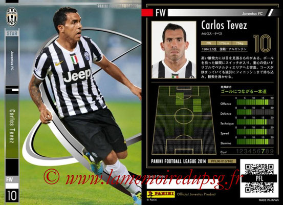 Panini Football League 2014 - PFL06 - N° 013 - Carlos TEVEZ (Juventus FC) (Star)