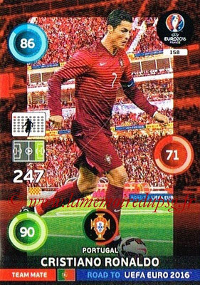 Panini Road to Euro 2016 Cards - N° 158 - Cristiano RONALDO (Portugal)