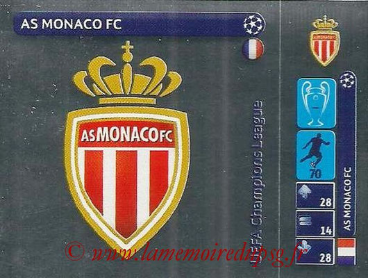 2014-15 - Panini Champions League N° 016 - Logo AS Monaco FC