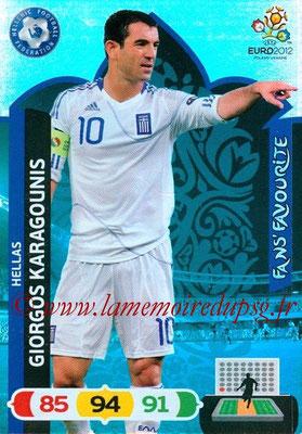 Panini Euro 2012 Cards Adrenalyn XL - N° 255 - Giorgos KARAGOUNIS (Grèce) (Fans' Favourite)