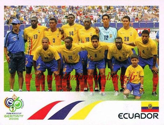 2006 - Panini FIFA World Cup Germany Stickers - N° 074 - Équipe Equateur