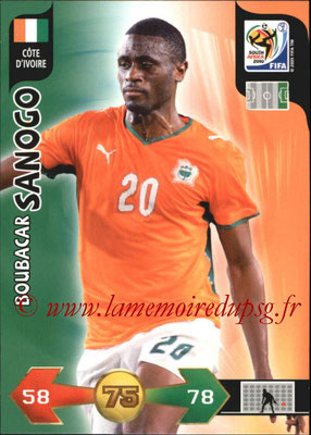 2010 - Panini FIFA World Cup South Africa Adrenalyn XL - N° 071 - Boubacar SANOGO (Côte d'Ivoire)