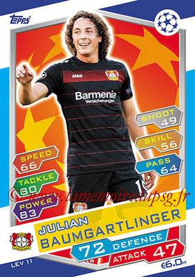 2016-17 - Topps UEFA Champions League Match Attax - N° LEV11 - Julian BAUMGARTLINGER (Bayer 04 Leverkusen)