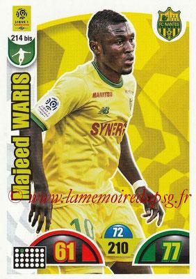 2018-19 - Panini Adrenalyn XL Ligue 1 - N° 214 bis - Majeed WARIS (Nantes)