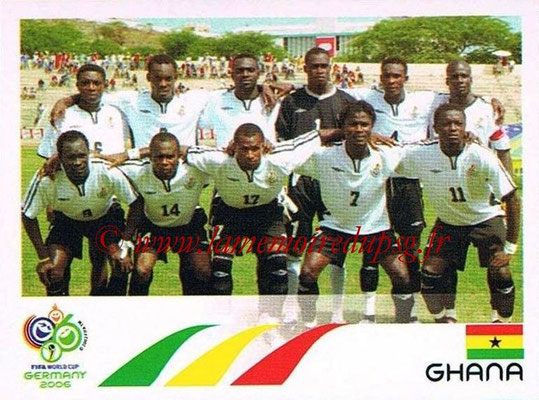 2006 - Panini FIFA World Cup Germany Stickers - N° 312 - Équipe Ghana