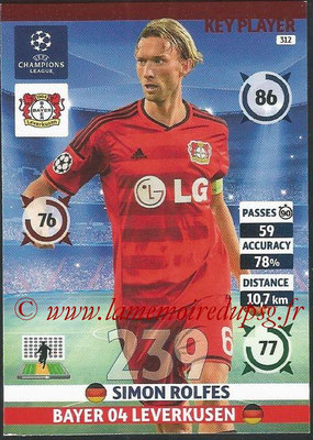 2014-15 - Adrenalyn XL champions League N° 312 - Simon ROLFES (Bayern 04 Leverkusen) (Key Player)