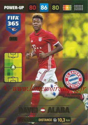 2016-17 - Panini Adrenalyn XL FIFA 365 - N° 383 - David ALABA (FC Bayern Munich) (Dynamo)