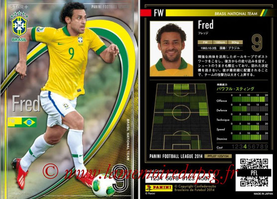 Panini Football League 2014 - PFL07 - N° 123 - FRED (Bresil) (Star +)