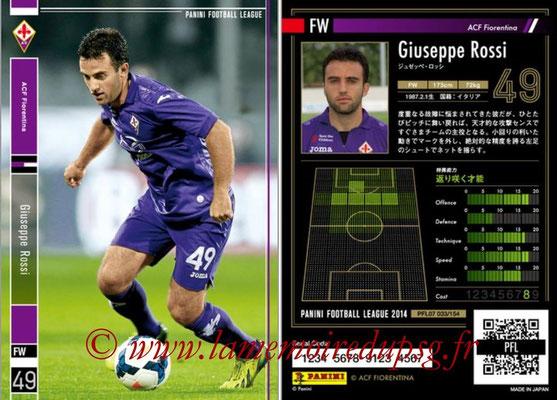 Panini Football League 2014 - PFL07 - N° 033 - Giuseppe ROSSI (ACF Fiorentina)