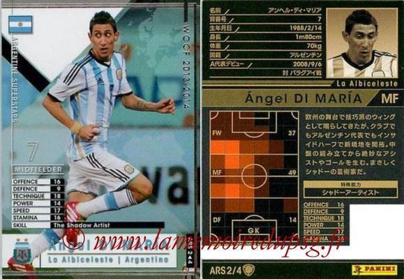 2013-14 - WCCF - N° ARS2 - Angel DI MARIA (Argentine) (Argentine Superstars)