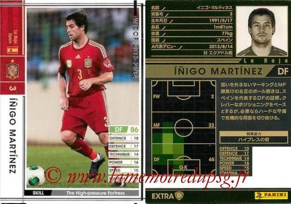 2013-14 - WCCF - N° EXT - Inigo MARTINEZ (Espagne) (Extra)