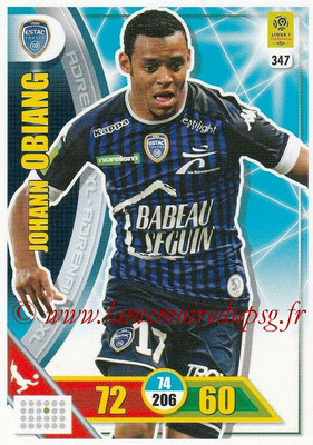 2017-18 - Panini Adrenalyn XL Ligue 1 - N° 347 - Johann OBIANG (Troyes)