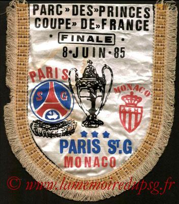 Grands fanions PSG-Monaco 1984-85