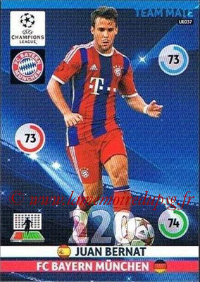 2014-15 - Adrenalyn XL champions League Update edition N° UE037 - Juan BERNAT (Bayern Munich)