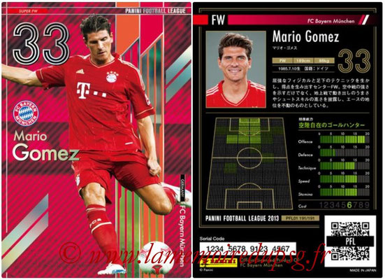 Panini Football League 2013 - PFL01 - N° 191 - Mario Gomez ( FC Bayern Munchen ) (Super FW)