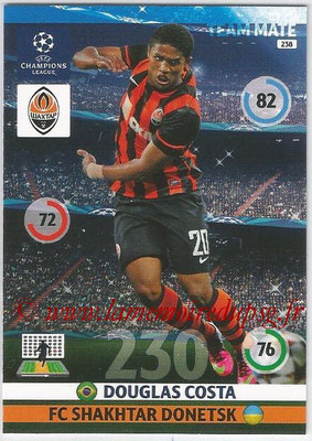 2014-15 - Adrenalyn XL champions League N° 238 - Douglas COSTA (FC Shakhtar Donetsk)