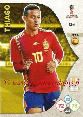 2018 - Panini FIFA World Cup Russia Adrenalyn XL - N° 126 - THIAGO (Espagne)