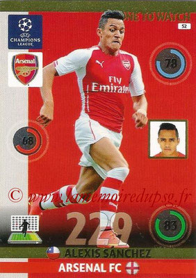 2014-15 - Adrenalyn XL champions League N° 052 - Alexis SANCHEZ (Arsenal FC) (One to Watch)