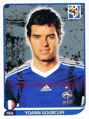 2010 - Panini FIFA World Cup South Africa Stickers - N° 098 - Yoann GOURCUFF (France)