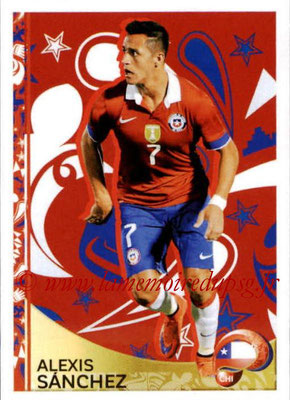 Panini Copa America Centenario USA 2016 Stickers - N° 407 - Alexis SANCHEZ (Chili) (En action)