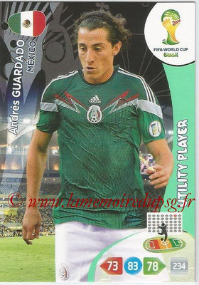 2014 - Panini FIFA World Cup Brazil Adrenalyn XL - N° 245 - Andres GUARDADO (Mexique) (Utility Player)